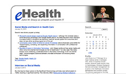 Screenshot of eHealth