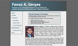 Screenshot of Fawaz A. Gerges