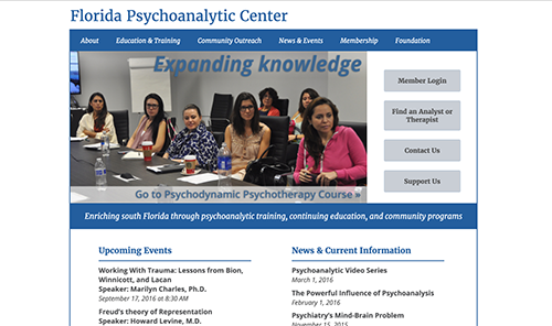 Screenshot of Florida Psychoanalytic Center