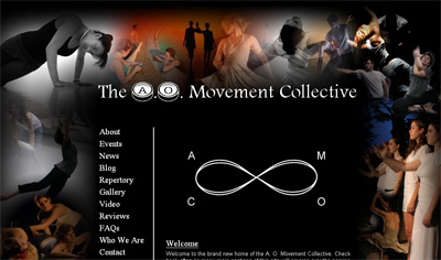 Screenshot of The A. O. Movement Collective