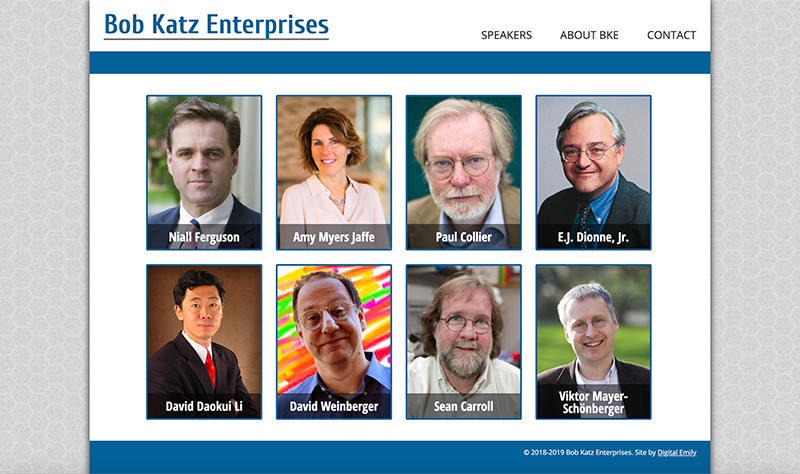 Screenshot of Bob Katz Enterprises