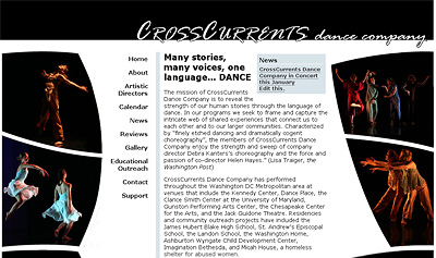 Screenshot of CrossCurrents Dance Co.