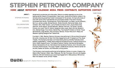 Screenshot of Stephen Petronio