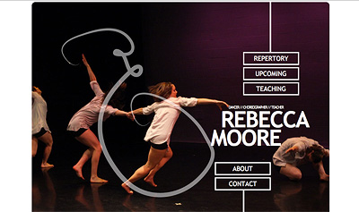 Screenshot of Rebecca Moore Dance