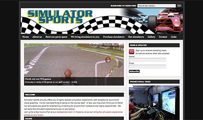 Screenshot of Simulator Sports