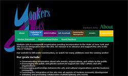 Screenshot of Yonkers Arts